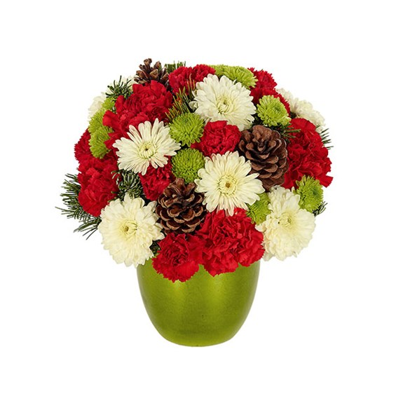 Bright cheerful holiday wishes bouquet miss daisy s