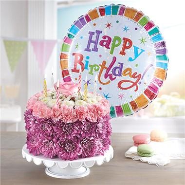 1 800 Flowers Birthday Wishes Flower Cake Pastel Leesburg Fl